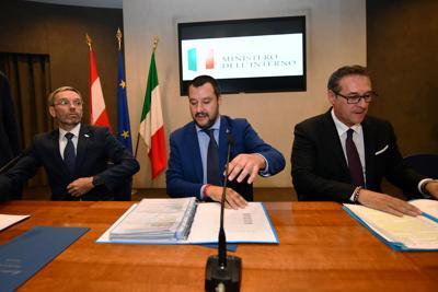 Salvini_Kickl_Stracke_Afp