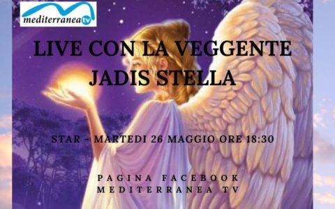 Grande appuntamento lunedì'  22 giugno ore 18:30 – Diretta con la veggente Jadis stella Luce spiritualita – Jadis Stella ti aiuta potrai interagire con lei e farle una DOMANDA.. NON MANCARE! sulla pagina mediterranea tv