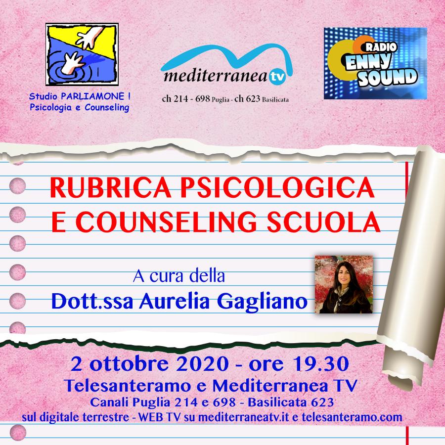 RUBRICA PSICOLOGICA E CONSUELING SCUOLA A CURA DELLA DOTT.SSA AURELIA GAGLIANO