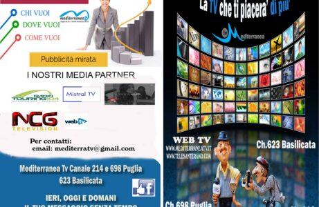 MEDITERRANEA TV piattaforma MEDIA PARTNER a 360° per la crescita delle imprese, istruttoria completamente gratuita.