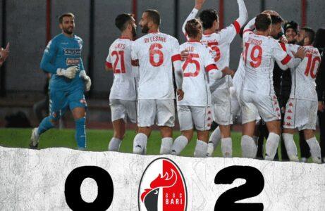 Il Bari espugna Caserta e vince 2-0