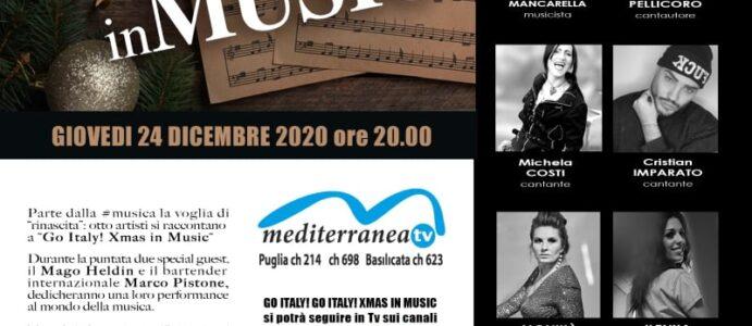 """X MAS  IN MUSIC"""" SU MEDITERRANEA TV  CN 698 E 214 PUGLIA E 623 BASILICATA  E WEB TV WWW.MEDITERRANEATV.IT  E WWW.MEDITERRANEATV698.COM . 24 DICEMBRE ORE 20.00"""