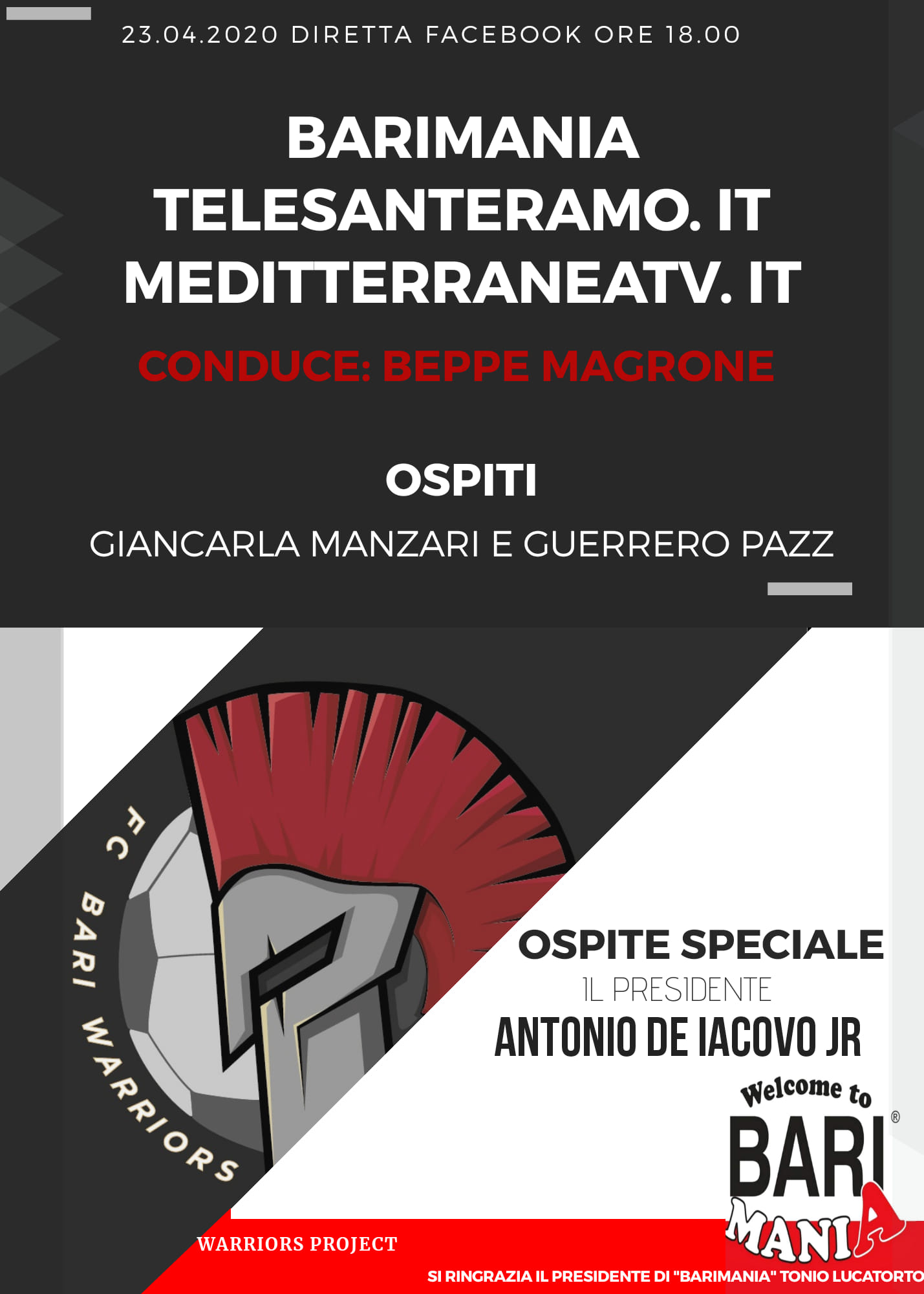 Speciale BARIMANIA e FC BARI WARRIORS