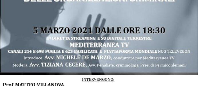 """CONFERENZA """"DONNE AL POTERE! IL RUOLO DELLA DONNA ALL'INTERNO DELLE ORGANIZZAZIONI CRIMINALI"""